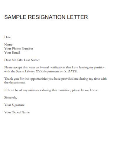 registratiom letter template