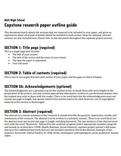 research paper outline guide