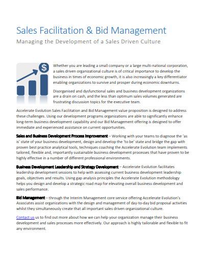 sales facilitation bid management