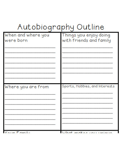 sample autobiography outline