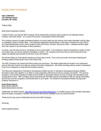 sample employee letter
