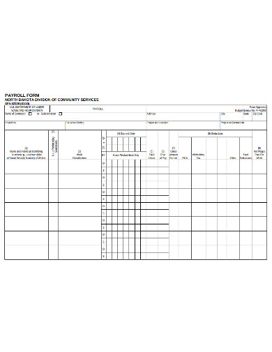 sample payroll form example