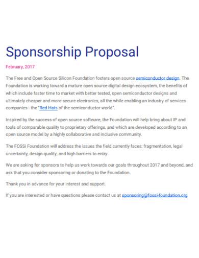sample sponsorship proposal