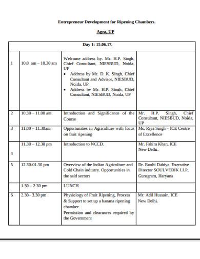sample training report example