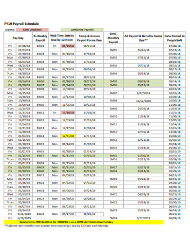 simple payroll schedule example