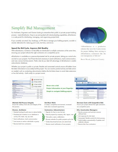simplify bid management