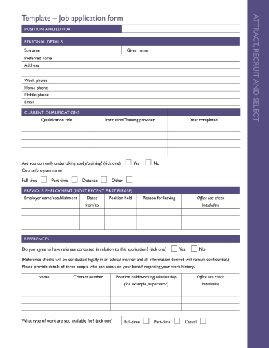 stylish employee information forms