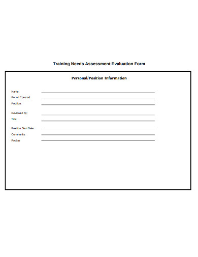 training assessment evaluation form example