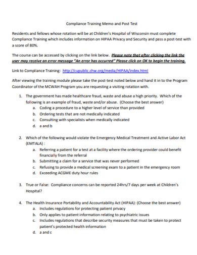 training memo in pdf