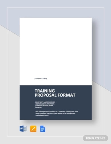 training proposal format template1