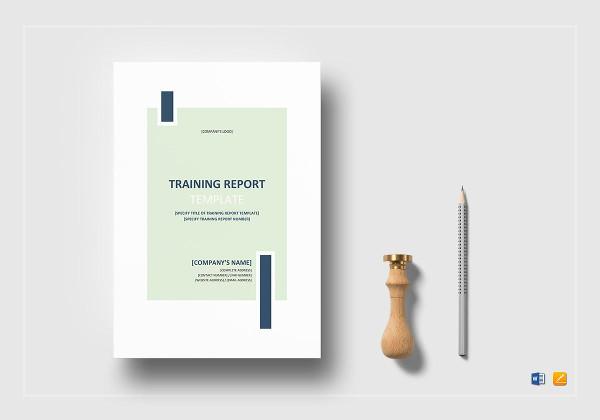 training report template