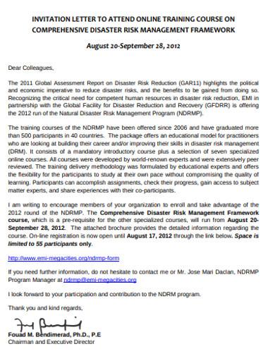 training invitation letter example