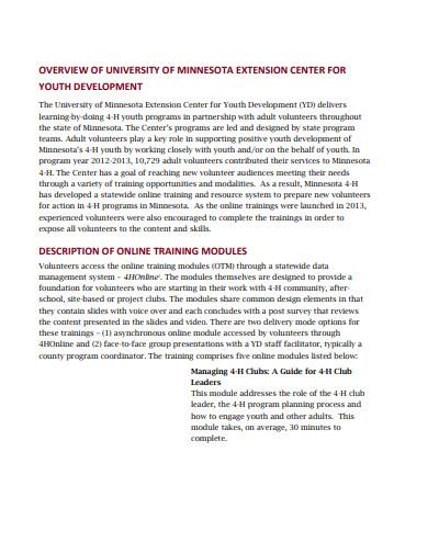 volunteer training evaluation