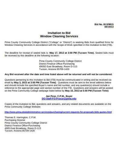 window cleaning bid service
