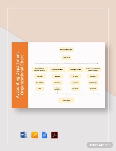 accounting department organizational chart