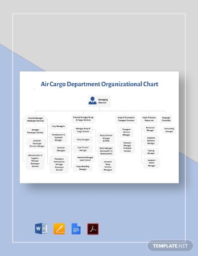 air cargo department organizational chart