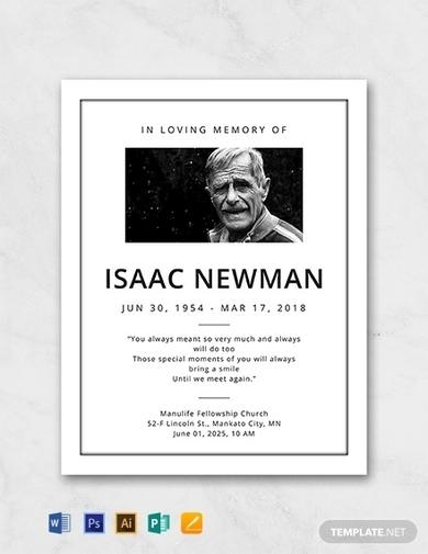 basic funeral obituary program