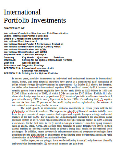 basic investment portfolio example