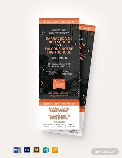 basketball ticket invitation