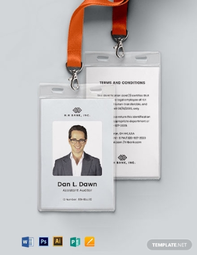 blank association id card