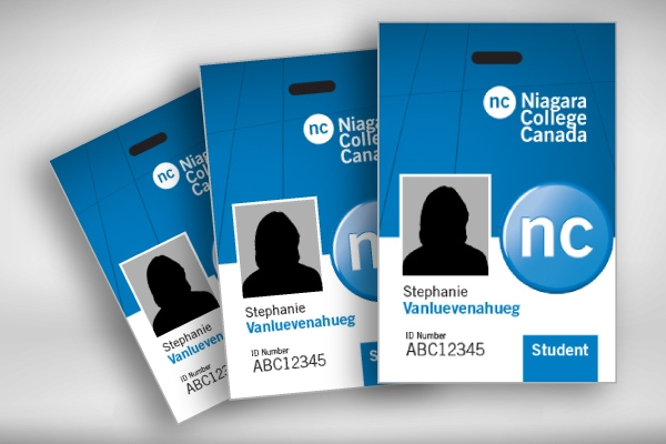 blank campus id card