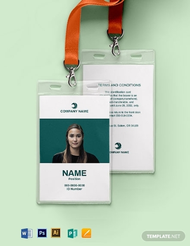 blank employee id card