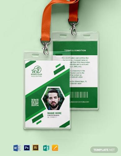 blank sports id card