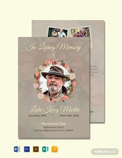 catholic funeral obituary program invitation