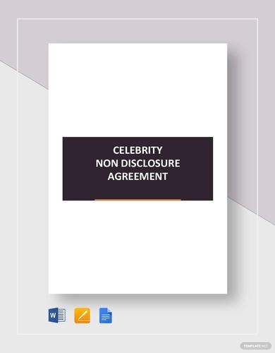 celebrity non disclosure agreement
