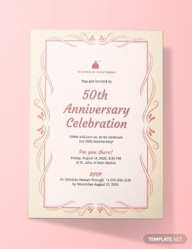 church anniversary invitation