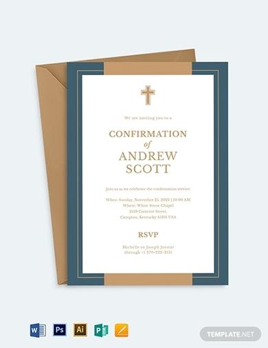 church confirmation invitation
