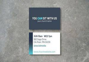 church invite card business cards 300x210
