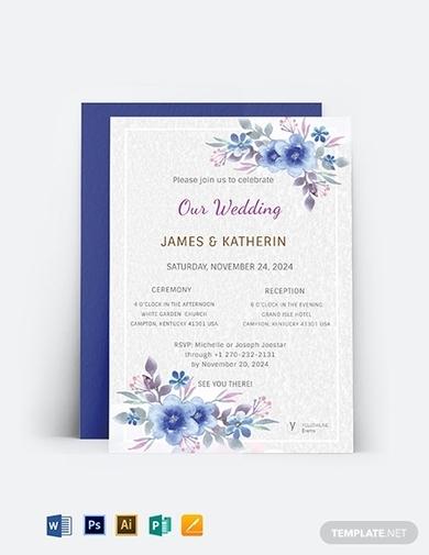 church wedding invitation card