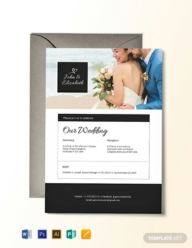 church wedding invitation email
