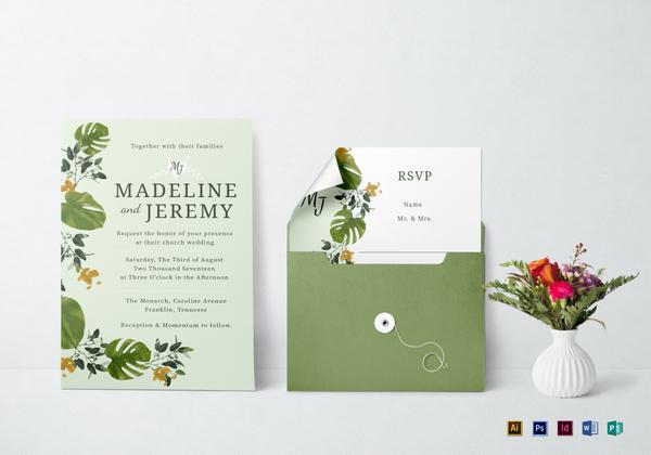 church invitation mockup