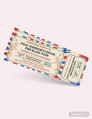 circus ticket invitation