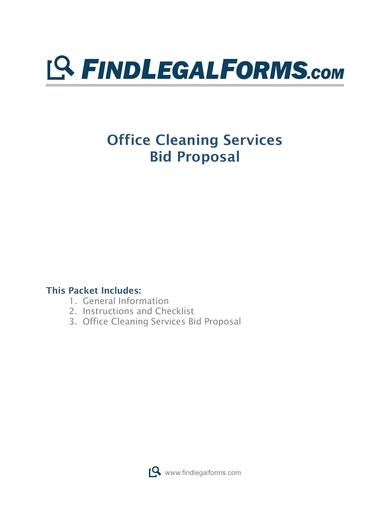 cleaning services bid proposal