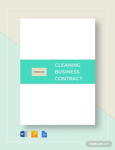 commercial cleaning business contract