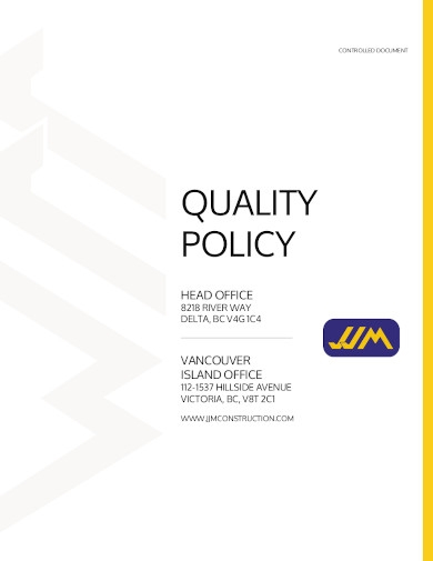 construction quality policy