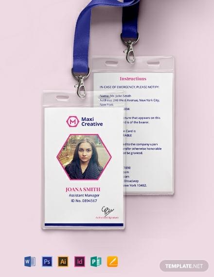 creative agency id card
