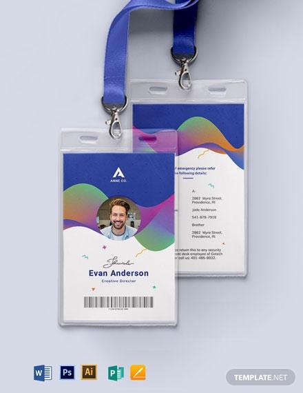 creative corporate id card