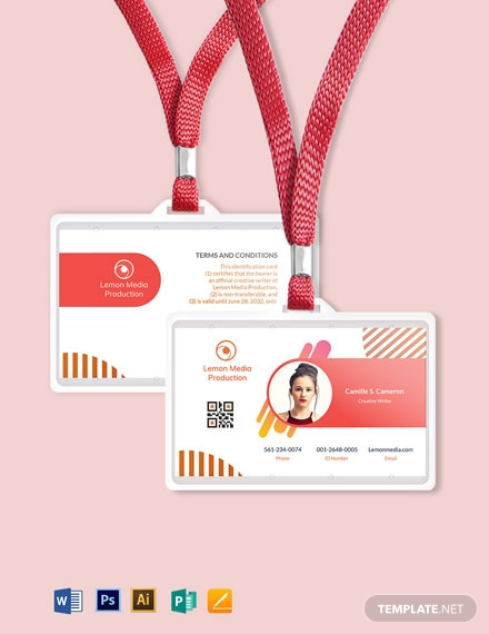 creative employee id card