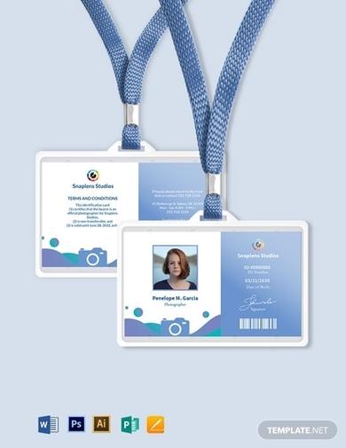 creative photographer id card