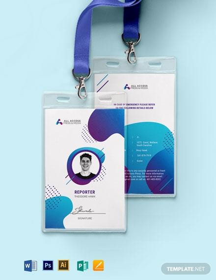 creative press id card