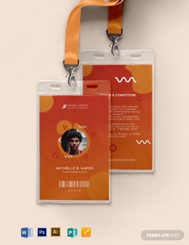 creative sports id card