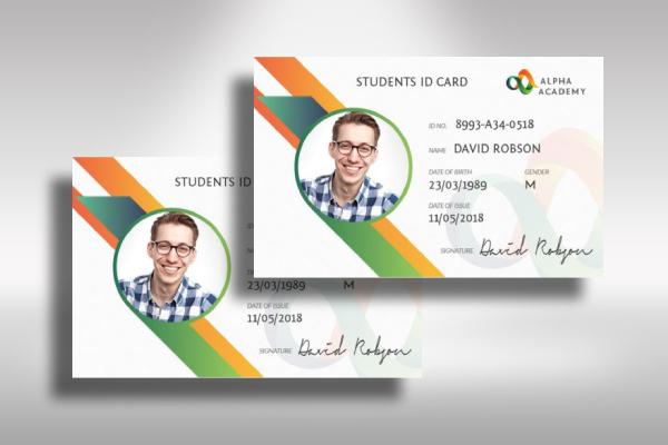 creative student id card