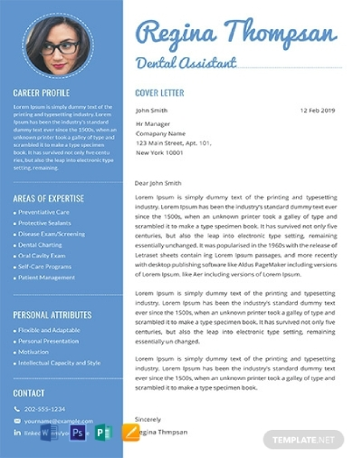 dental assistant resume with cover letter