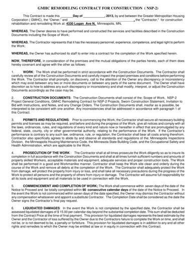 detailed remodeling contract