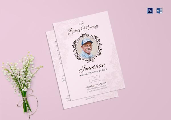 elegant funeral service program