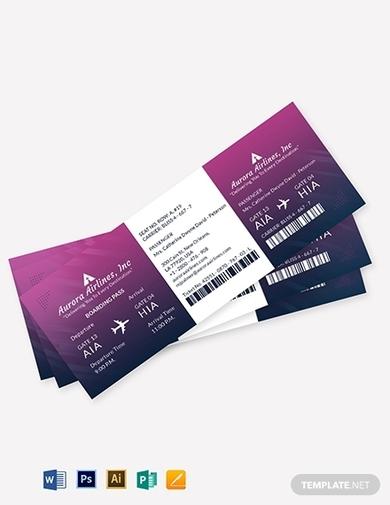 elegant travel ticket